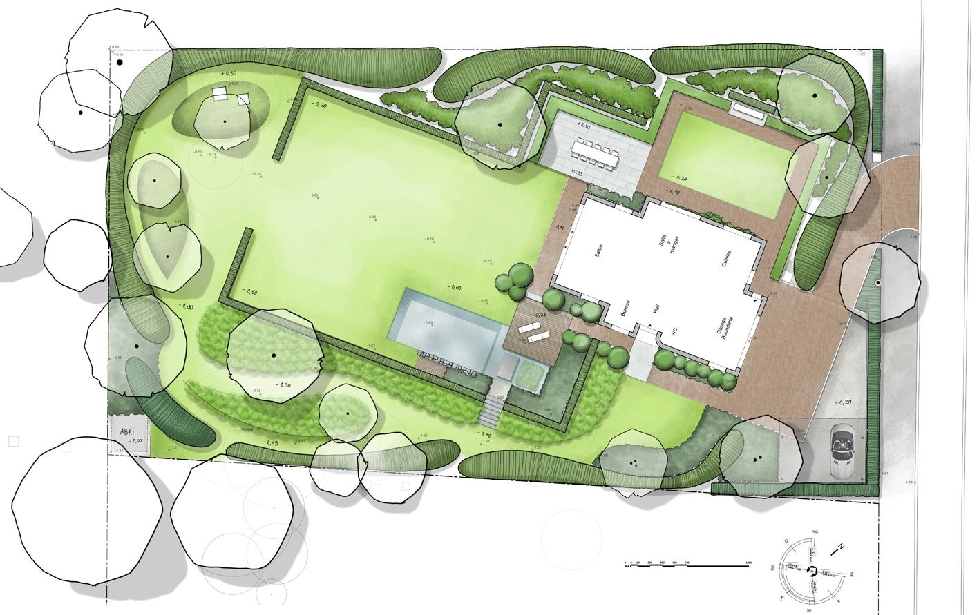 Architecture et aménagement de jardins Rhode-St-Genèse