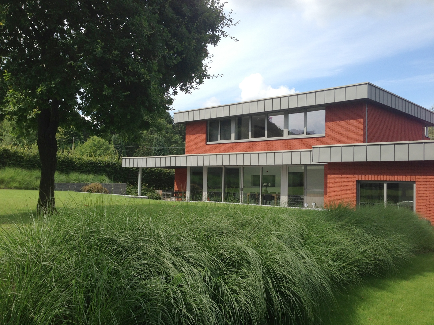 Jardin épuré pour maison moderne